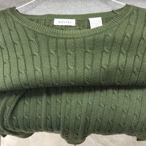 IZOD army green sweater